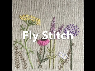 Embroidery Tutorial - Fly Stitch | Chrissie Crafts