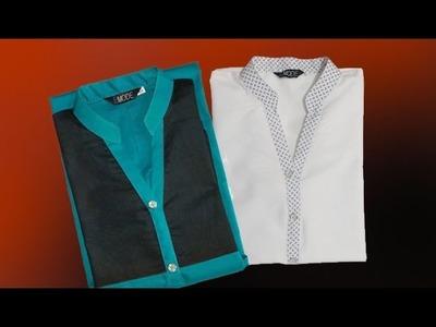 Formal collar kurti cutting and stitching DIY tutorial easy method hindi