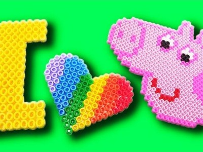 FUN Peppa Pig Bead Art with Pyssla Perler Beads from IKEA