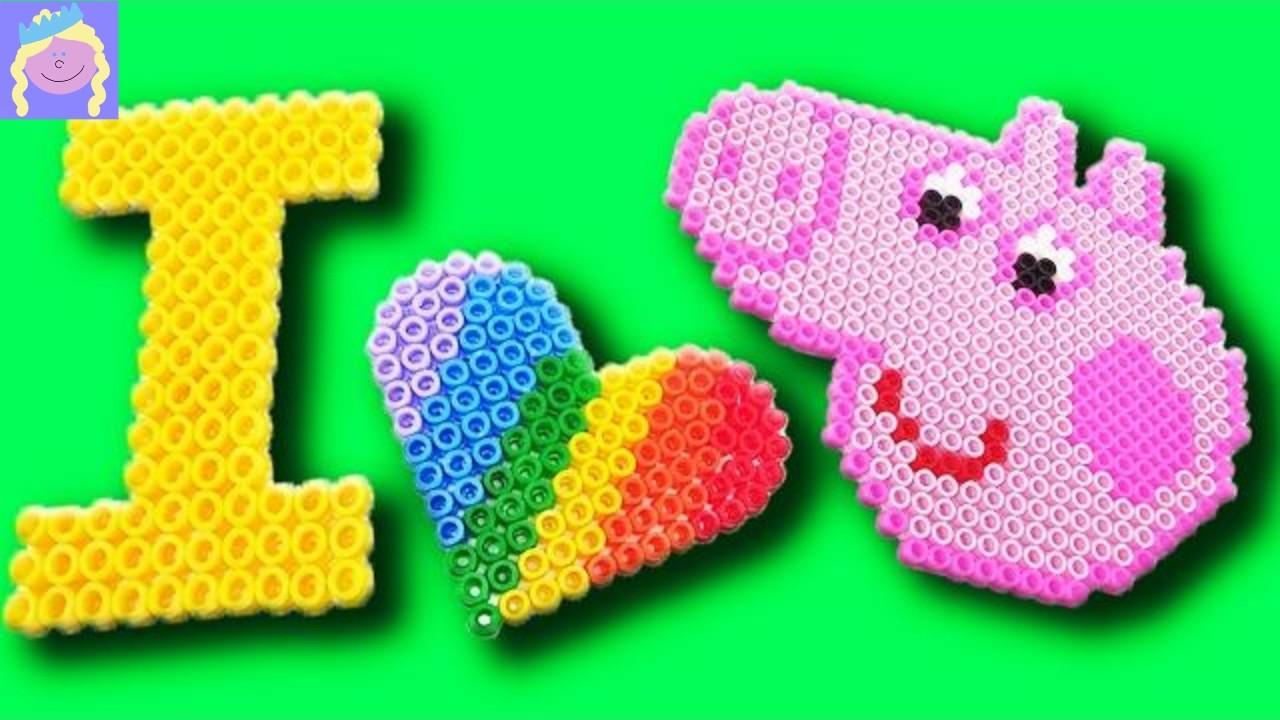 FUN Peppa Pig Bead Art with Pyssla Perler Beads from IKEA