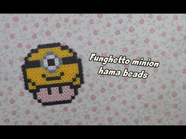 Funghetto super mario in versione minion - hama beads-   kamipucca  