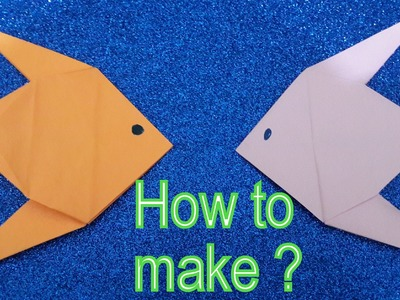 Golden Fish- How to make a Origami Golden Fish