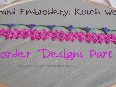 Hand Embroidery: Kutch Work Double(Twin) Border Design