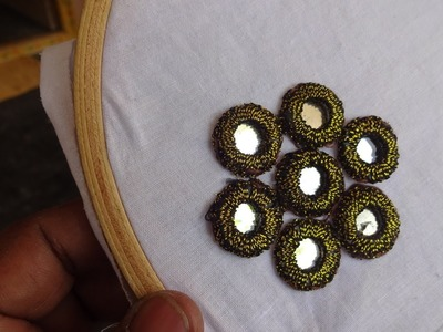 Hand Embroidery  Mirror Work   Hand Embroidery By Amma Arts