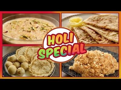 Holi Special Easy Recipes | Puran Poli, Thandai, Sevai Kheer, Lapshi | Ruchkar Mejwani with Archana