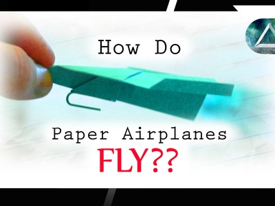 How do Airplanes Fly - Cool Science Experiment and How to make a Paper Airplane Launcher!