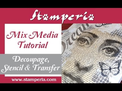 How to create an amazing Mix Media - MIXED MEDIA - Creativity in 2 minute