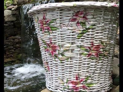How to Decoupage over Wicker