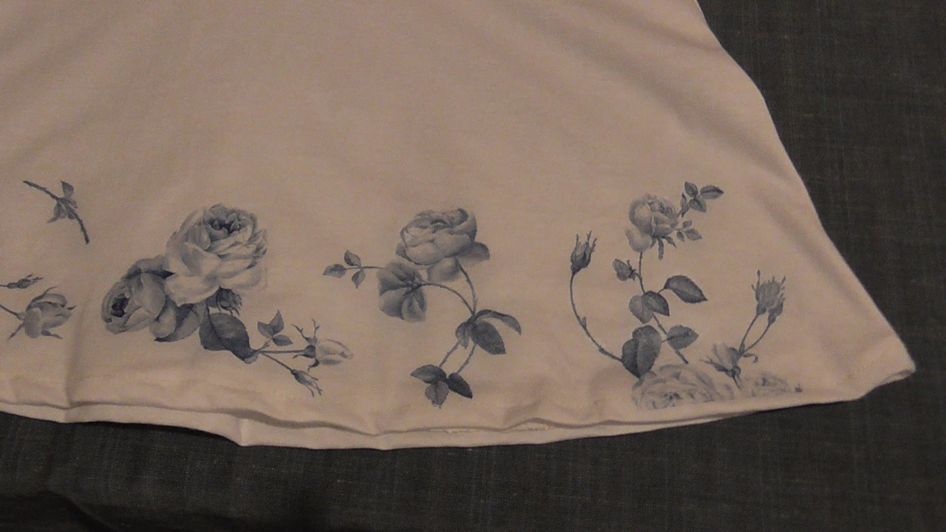 How to decoupage (paper towel) on fabric.Πως κάνω ντεκουπάζ (χαρτοπετσέτας) σε ύφασμα