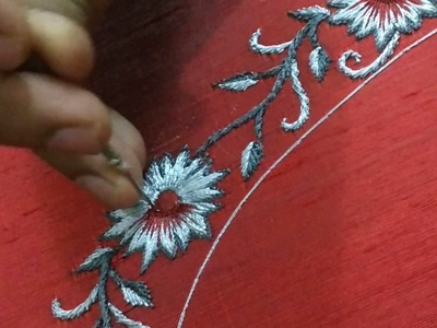 How to do shading work - long and short embroidery stitch