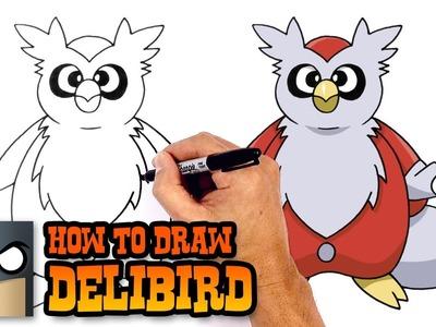 How to Draw Delibird | Pokemon