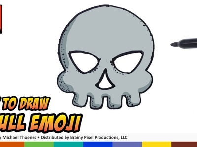 How to Draw Emojis - Skull Emoji - Step by Step for Beginners | BP