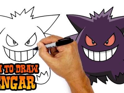 how to draw pokemon gengar