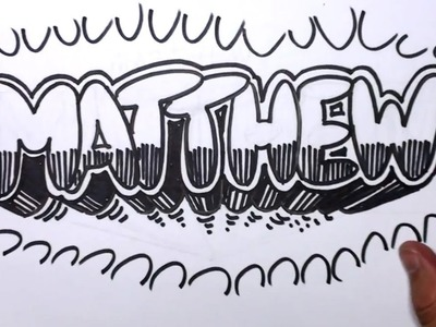 How to Draw Graffiti Letters - Write Matthew in Bubble Letters | MAT
