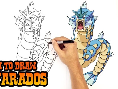 How to Draw Gyarados | Pokemon
