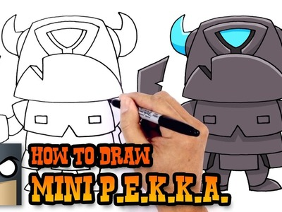 How to Draw Mini P.E.K.K.A. | Clash Royale