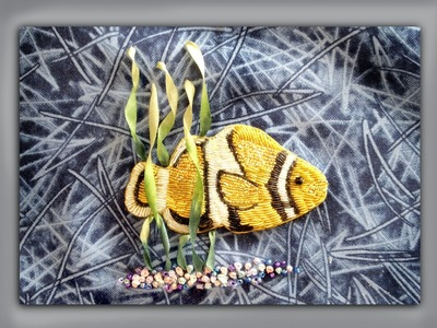 How to embroider a goldwork clownfish
