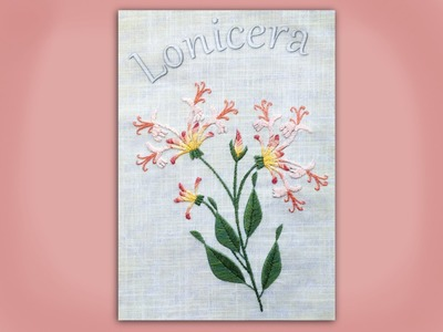 How to embroider a honeysuckle branch