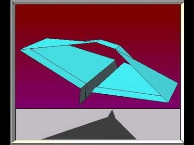 How To Fold The Saturn Paper Airplane
