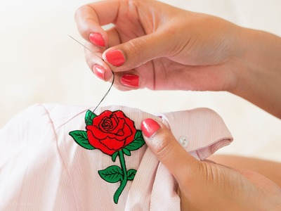 How To Hand Sew Embroidered Patches
