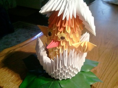 How to make 3d origami Chick and Egg