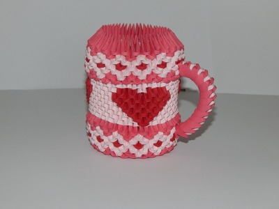 How to make 3d origami cup (HEART) part 2