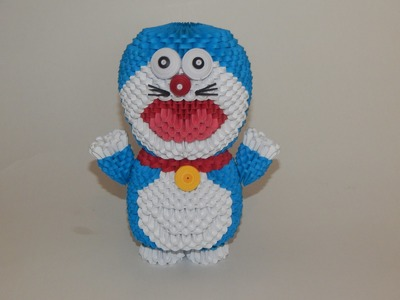 How to make 3d origami Doraemon part2