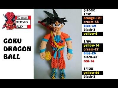HOW TO MAKE 3D ORIGAMI GOKU DRAGON BALL TUTORIAL || DIY 3D ORIGAMI GOKU DRAGON BALL TUTORIAL