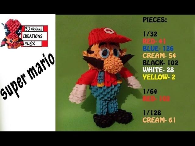 How To Make 3d Origami Super Mario Tutorial Diy 3d Origami Super