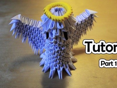 How To Make a 3D Origami Angel (part 1) - Tutorial