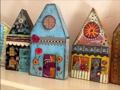 How to Make a Mixed Media Wooden  House