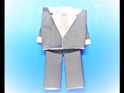 How To Make A Paper Origami Jacket, Shirt & Pants with Tie | Tie Shirt Jacket Origami Tutorial