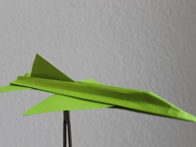 How to make a paper plane. Instruction and flight test   F16