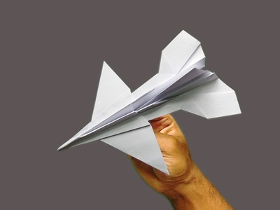 How to make an F16 Jet Fighter Paper Plane - Best Origami Airplane