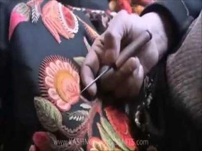 How to make Kashmiri Hand Embroidered Shawl (www.kashmiri-shawls.com)