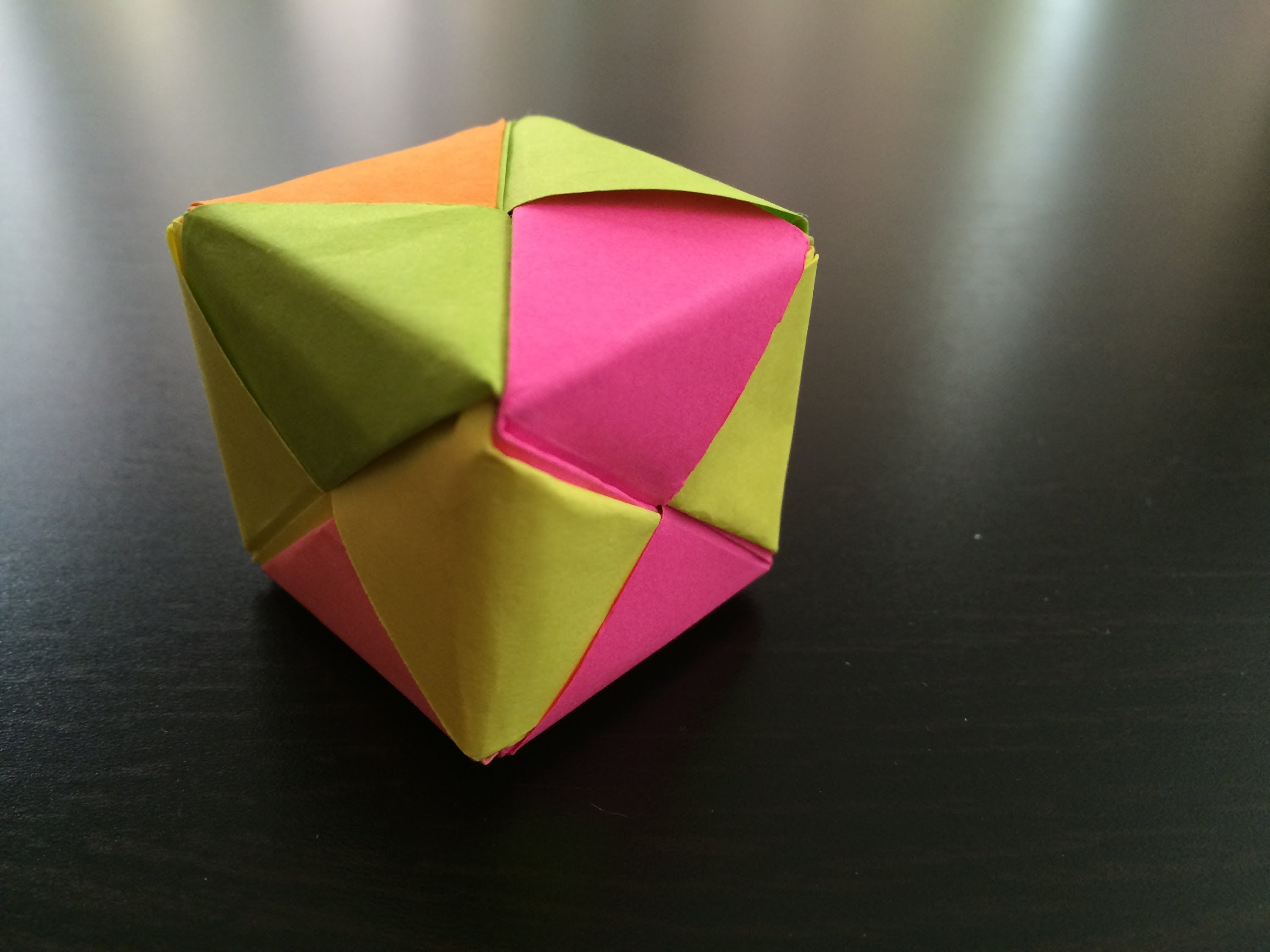 How to make origami cube box - photo#17