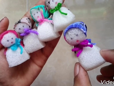 How to make sponge doll #easy  doll ever