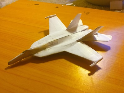 How to make the F-18 Super Hornet Paper Airplane