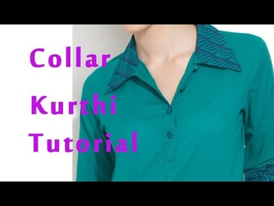 How to stitch band collar, How to sew band collar kurti, shirt collar kurti