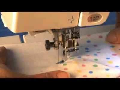 How to use Janome Open Toe Free Motion Quilting Foot