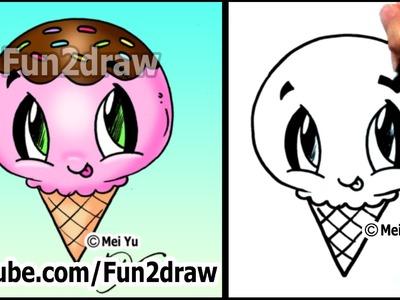 Ice Cream - Yummy Dessert - How to Draw Easy Tutorial