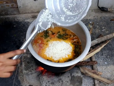 Indian MUSLIM BEST CHICKEN PULAO Prepared for Small Family & Street food & Village food