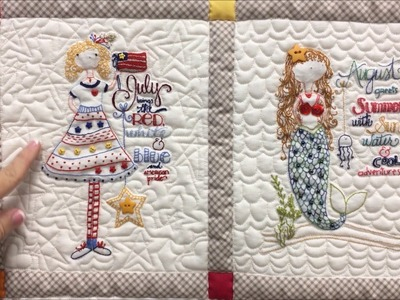 Join the 2017 Calendar Girls Stitchery Club with Stitches of Love