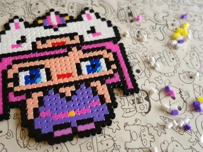 Kawaii Unicorn Girl - Hama Beads Designs by Garbi KW #pixelart