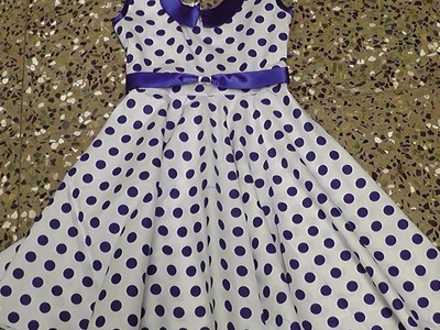 Kids stylish frock with peter pan neck cutting and stitching. PART - 2