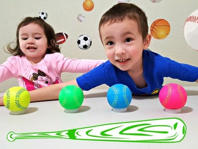 Learn Colors with Balls for Children, Toddlers, and Babies - Colours with Baseballs