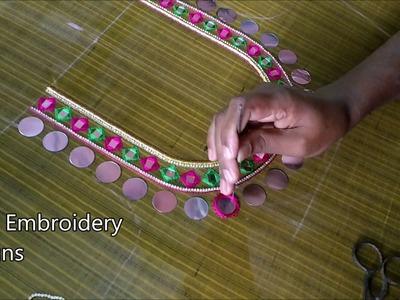 Maggam work blouse designs simple | hand embroidery designs | hand embroidery designs for beginners
