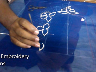 Maggam work tutorial for beginners | hand embroidery designs | hand embroidery designs for beginners