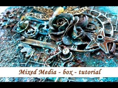 Mixed media - altered box - tutorial by Ola Khomenok