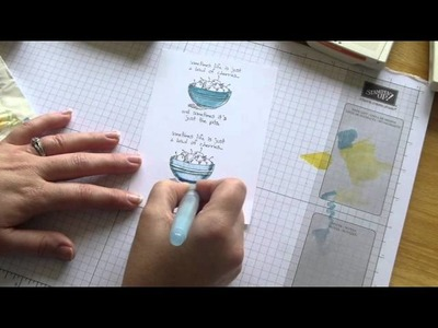 My Stampin Studio   How to use our Aqua Painters to give your stamped images a realistic look